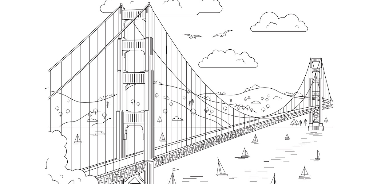 - Download Free Coloring Pages From Views Of San Francisco Book Golden Gate  National Parks Conservancy