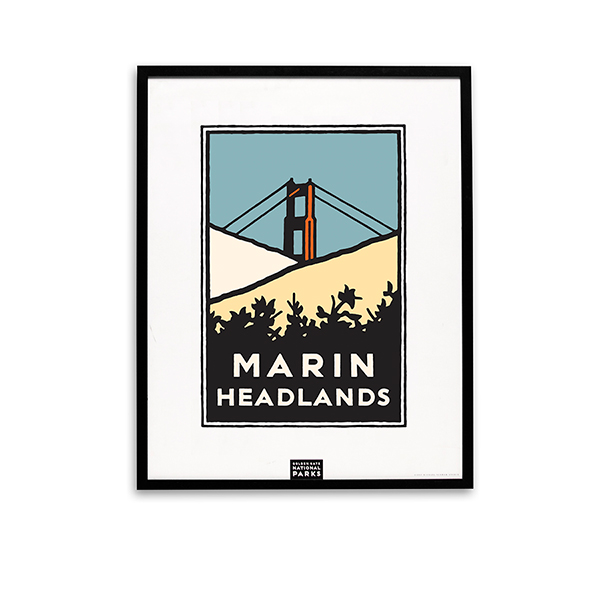 Framed Marin Headlands Poster