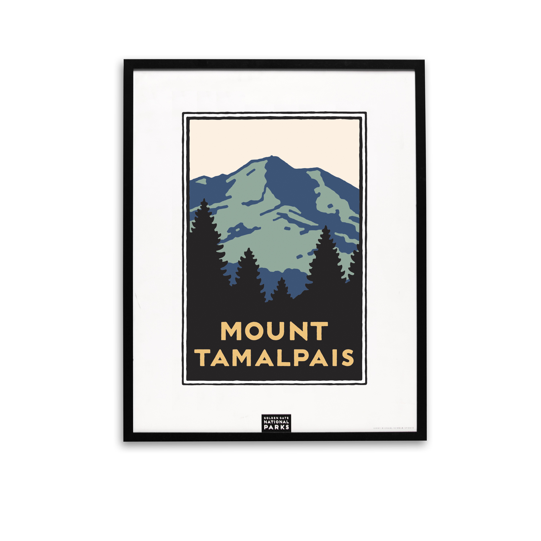 Framed Mount Tamalpais Poster