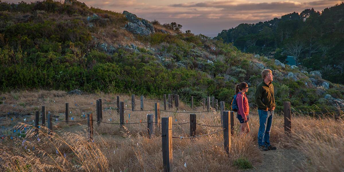 Hikers enjoy views from the Dias Ridge Trail