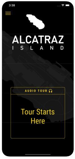 Screenshot of the new 'Alcatraz Experience' audio tour.