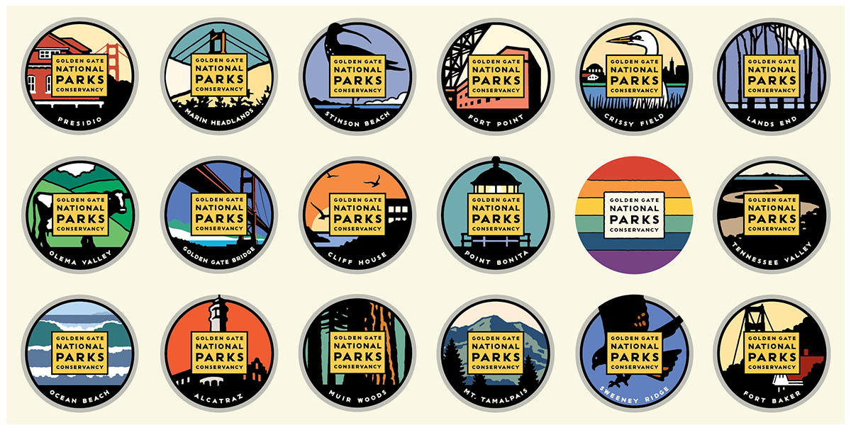 Golden Gate National Parks stickers