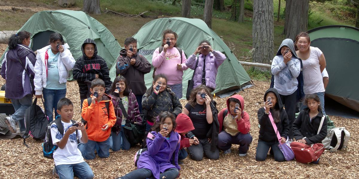Kids enjoy camping at the Presidio experience at Rob Hill