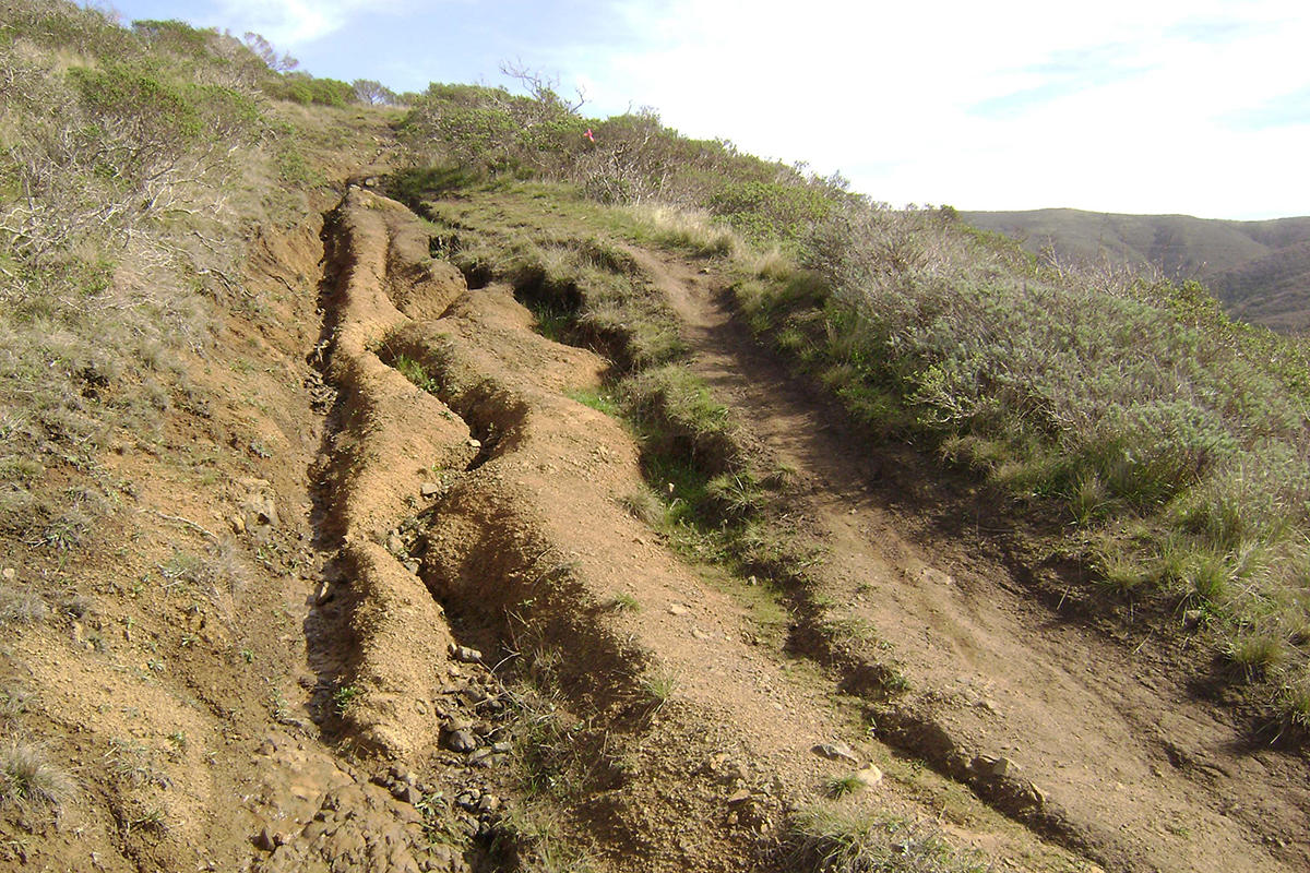 Eroded trail