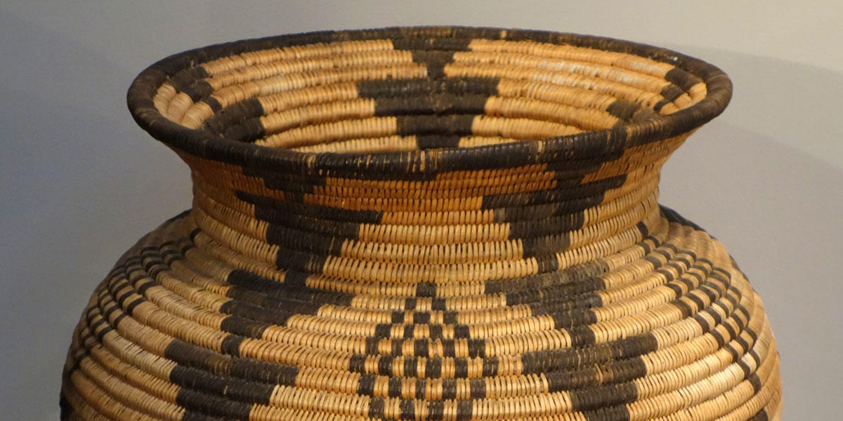 Basket, Apache people, Arizona, circa 1900, coiled willow and devil's claw