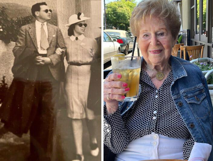 Images of Parks Conservancy member Dorothy Gardner in 1937 and in 2021.