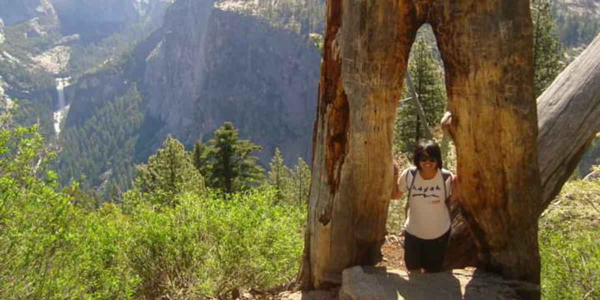 Lana on a trip to Yosemite with LINC.