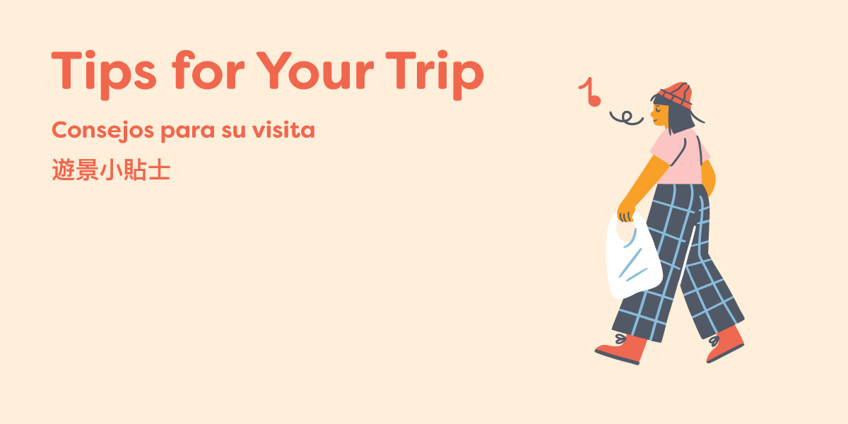 """Graphic saying """"Tips for Your Trip"""""""