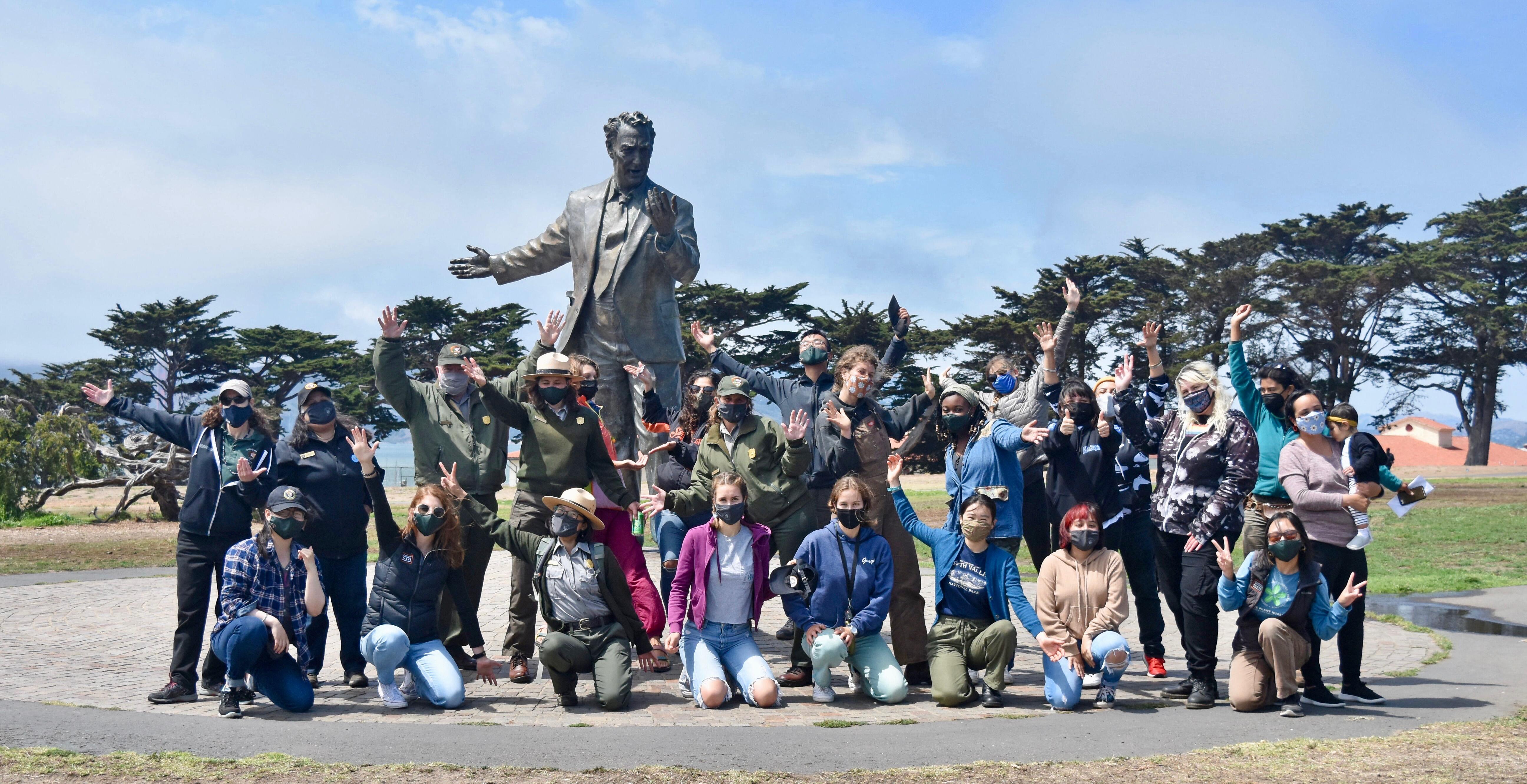 Academic Interns at farewell picnic 2021