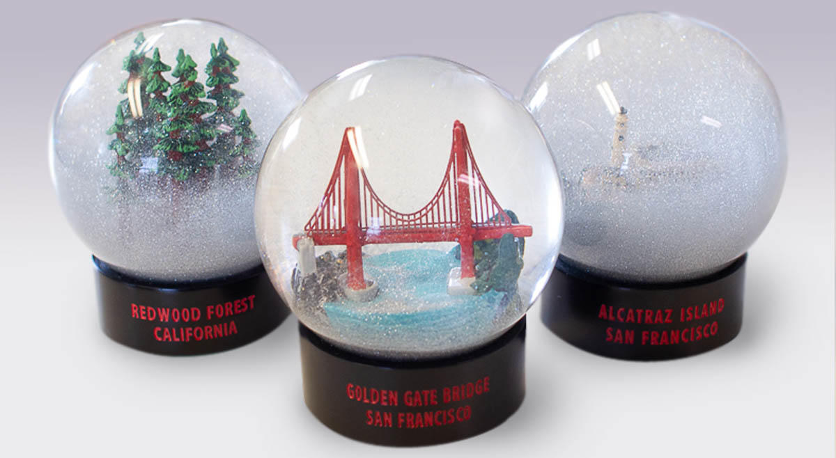 The Parks Conservancy's fog globe collection.