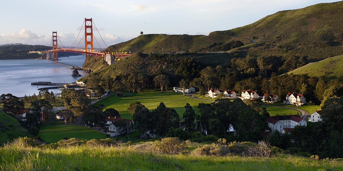 View of the Golden Gate from Fort Baker