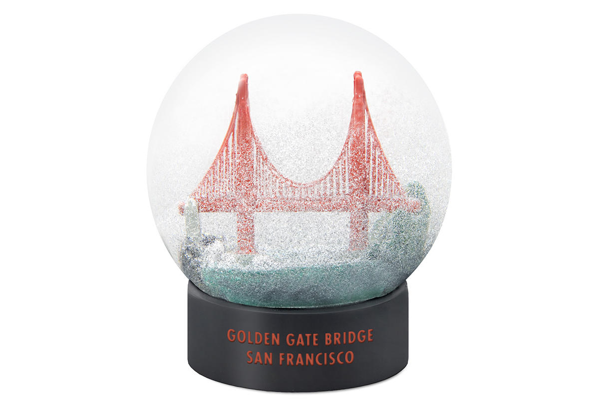 Golden Gate Bridge fog globe.