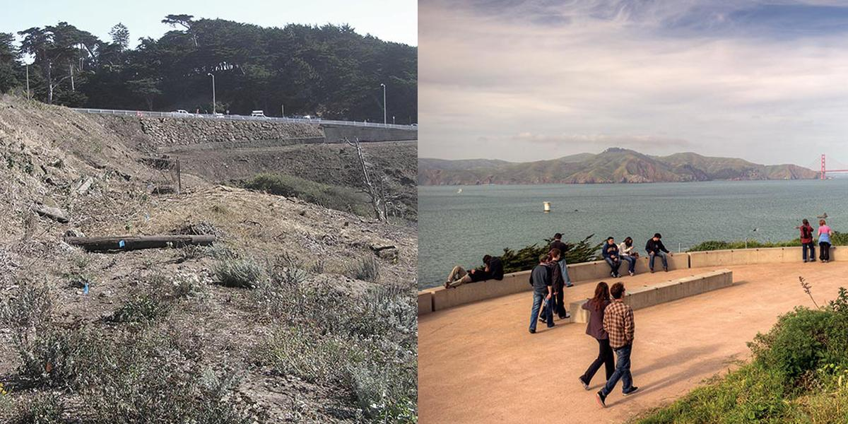 Lands End before and after