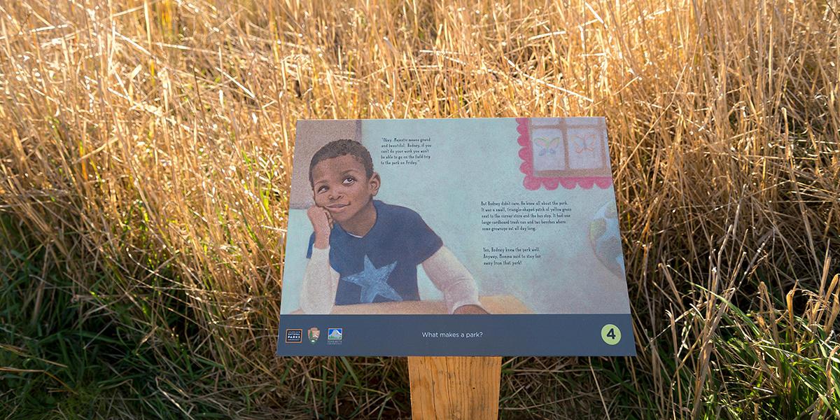 "Carmen Bogan's ""Where's Rodney?"" StoryWalk at the Marin Headlands"