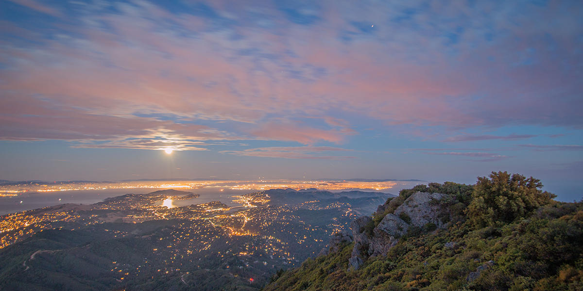 Moonrise on Mt. Tam