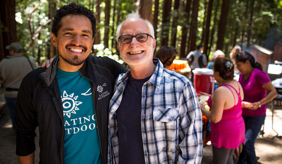 Greg Moore with José González, founder and former director of Latino Outdoors.