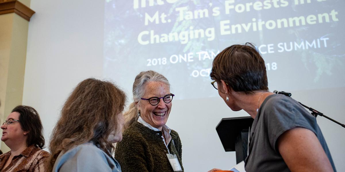 "Participants at the 2018 One Tam Science Summit: ""Into the Woods."""