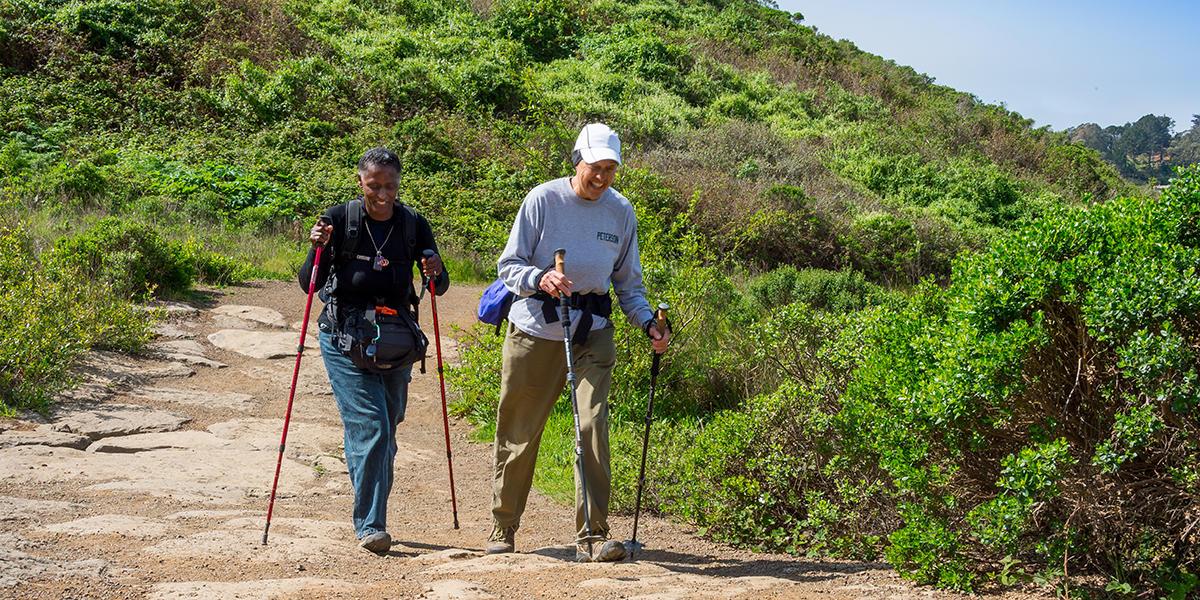 Hikers near Muir Beach