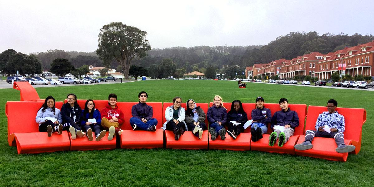 The Youth Advisory Council out at the Presidio