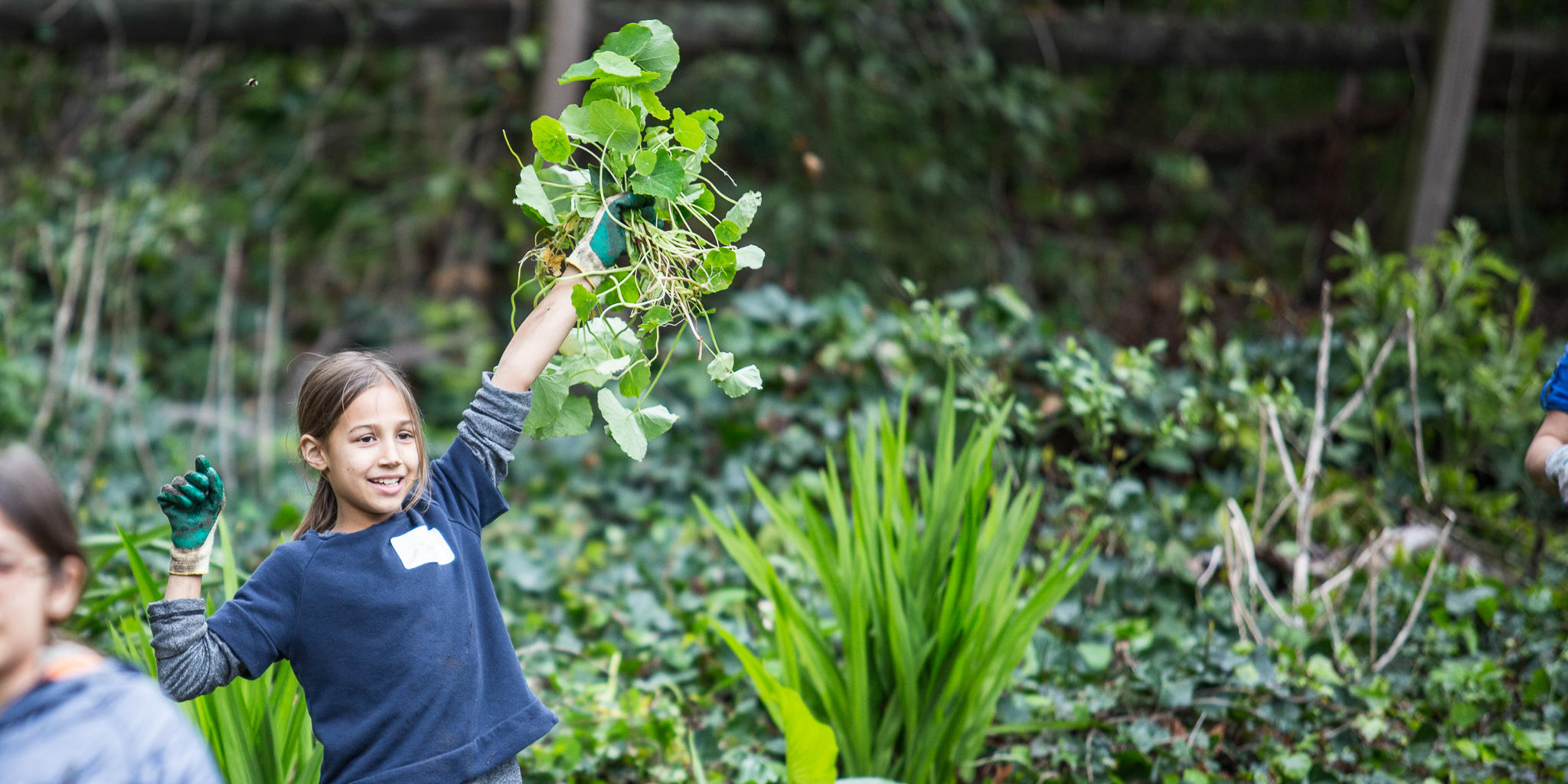 Enthusiastic Volunteer in the Presidio