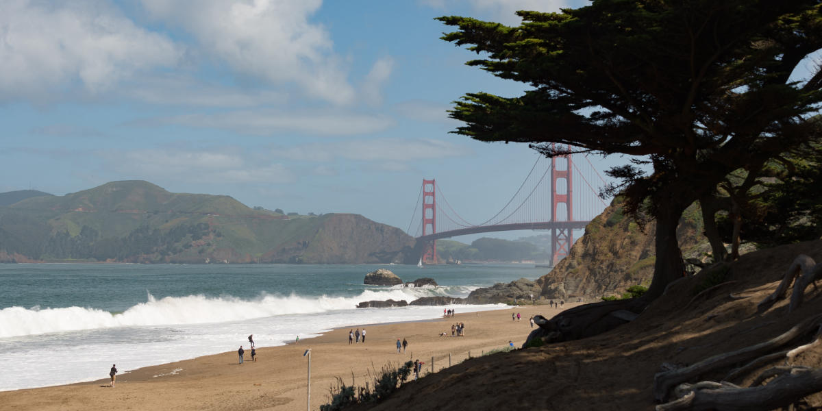 Natural beauty paired with the Golden Gate Bridge