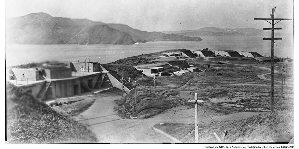 Battery Boutelle before the Golden Gate Bridge was built