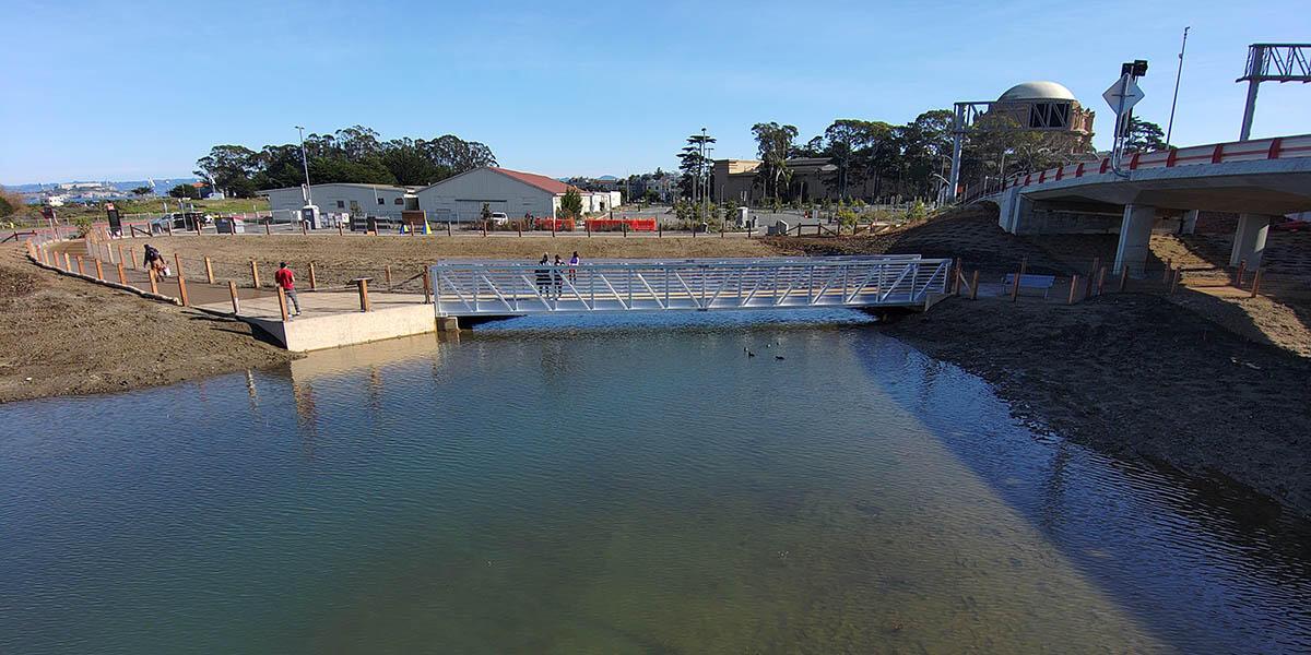 Bridge over Quartermaster Reach in the Presidio