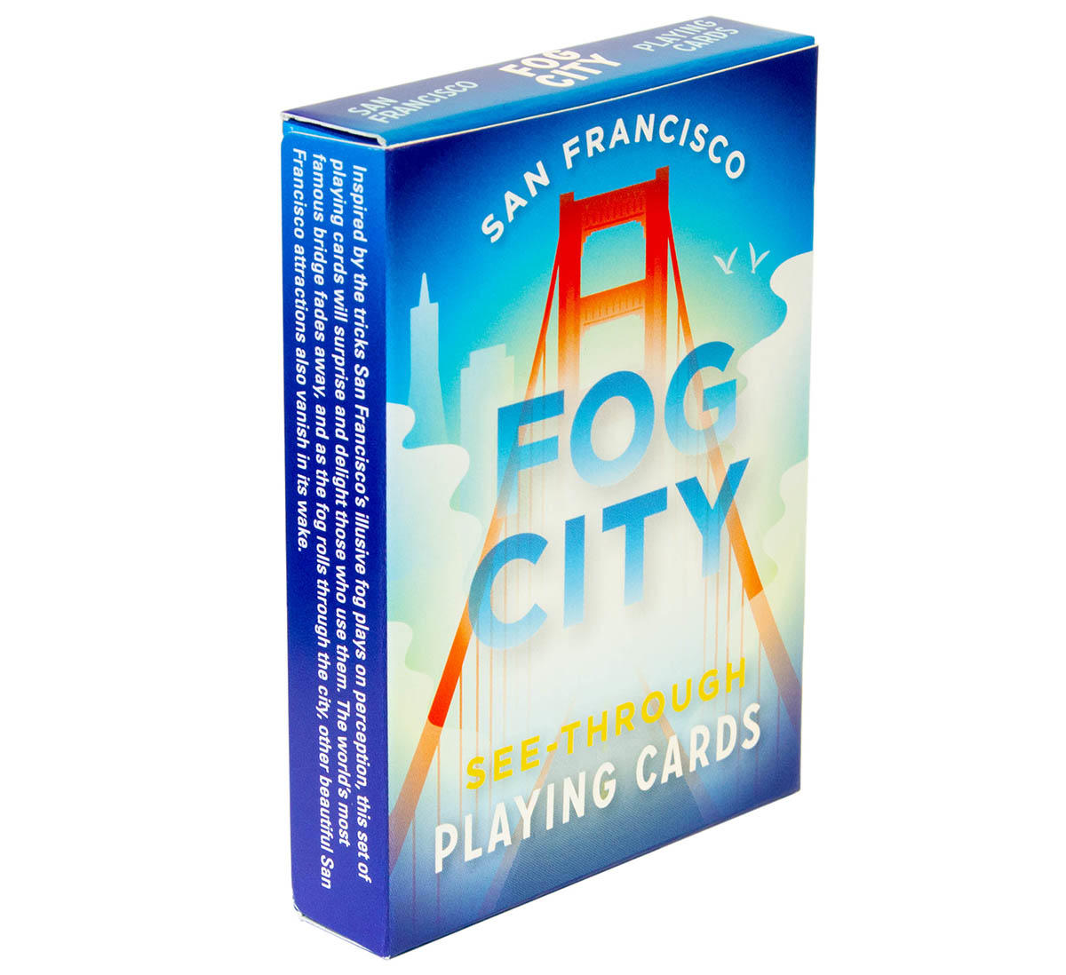San Francisco 'Fog City' see-through playing cards.