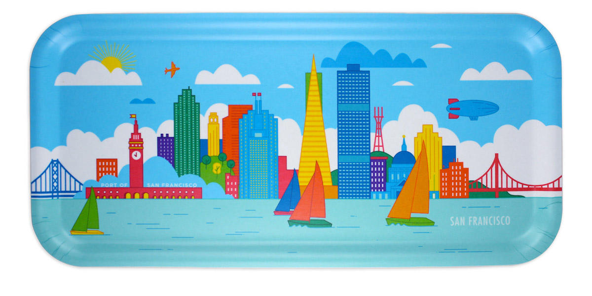 San Francisco skyline tray.