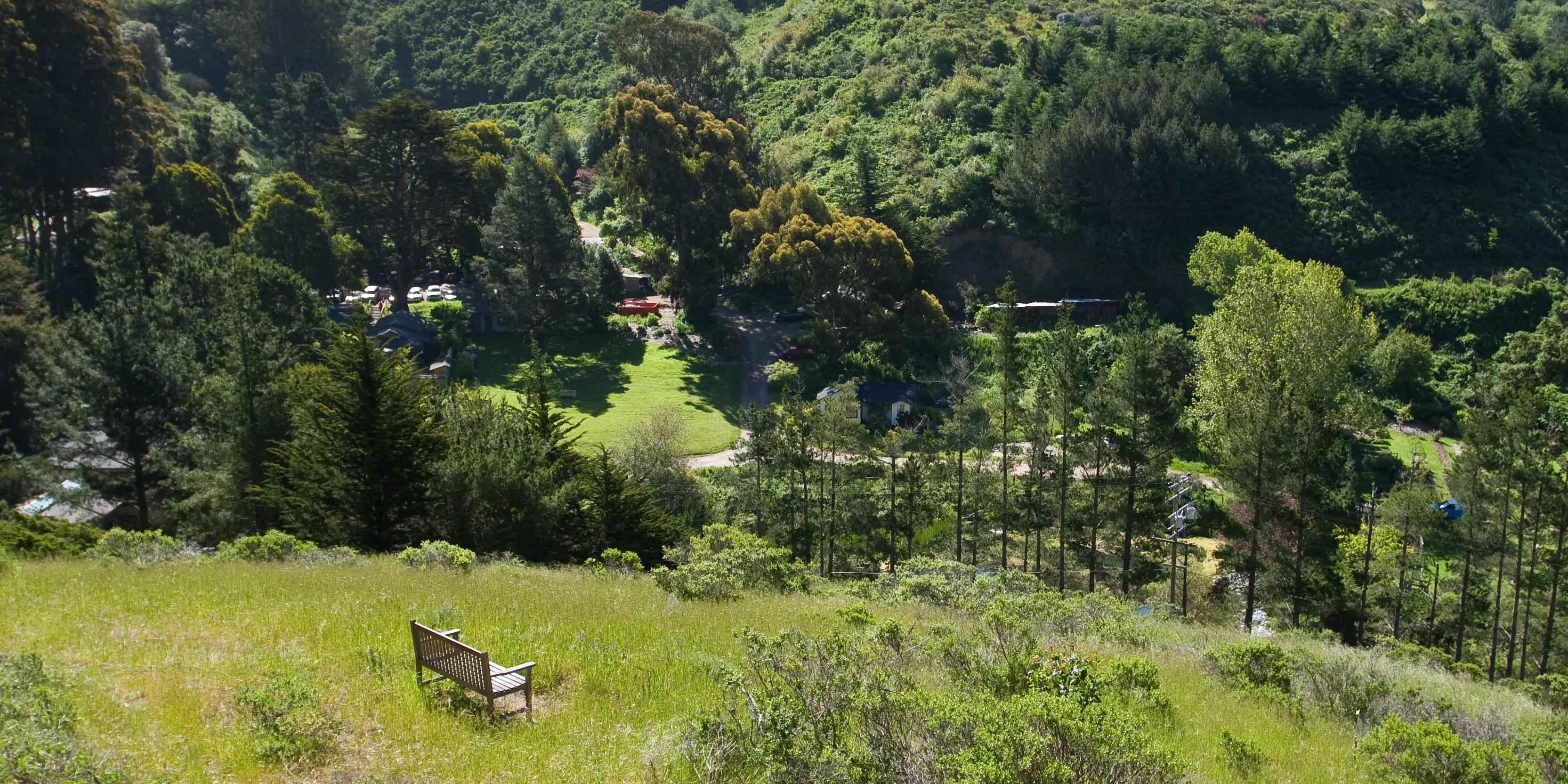 View over Green Gulch Farm Zen Center