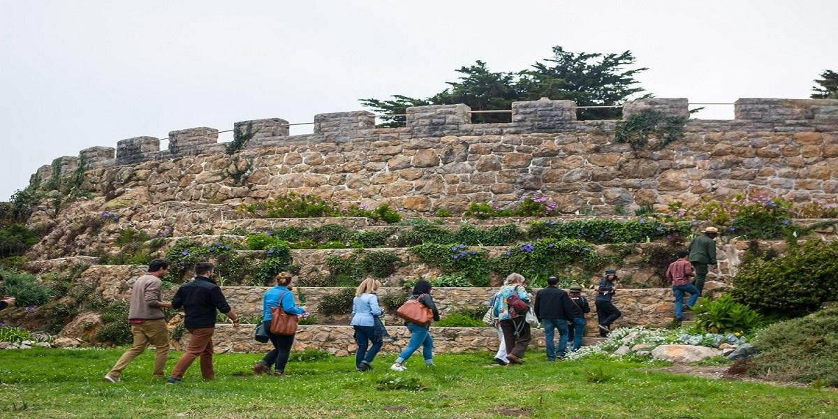 Group of hikers being guided by a Park Ranger