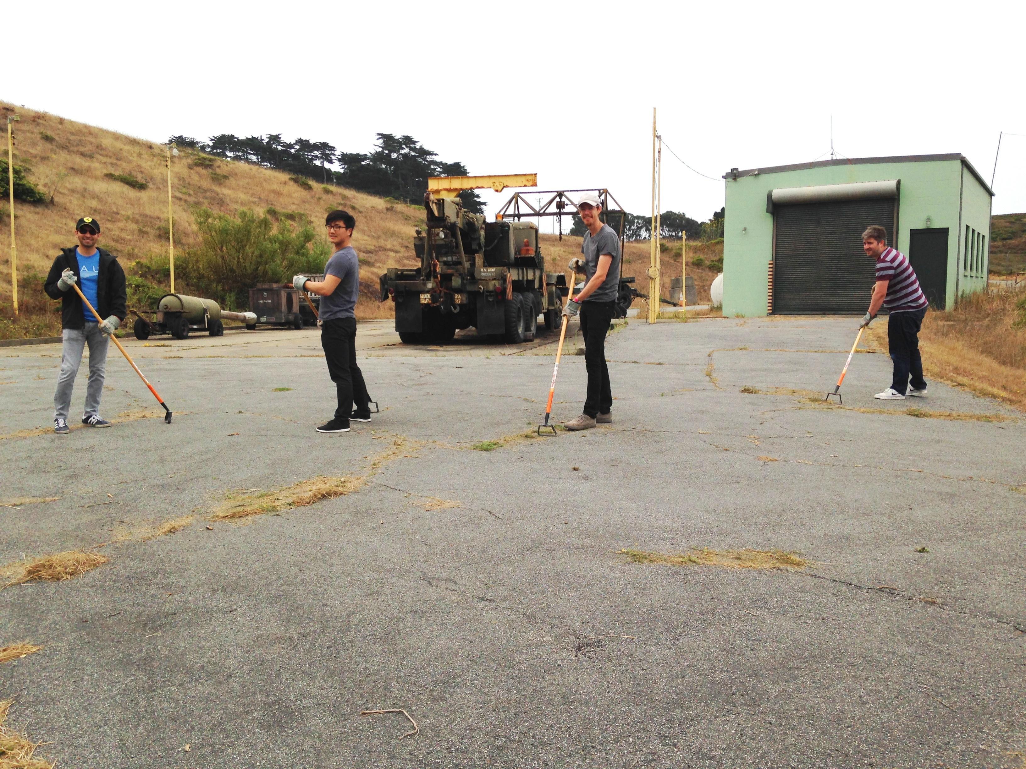 Volunteers at Nike Missile Site.