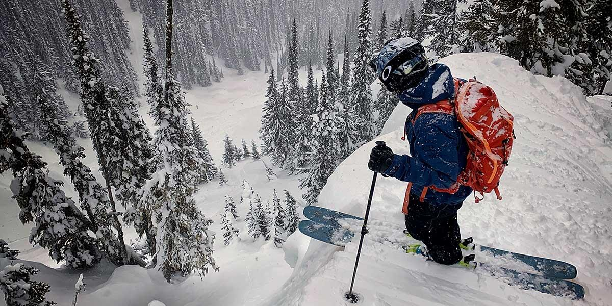 """Scene from """"Charge 2"""" where five top freeskiers and one world champion drone pilot go cat skiing in British Columbia in Canada for a week. Their instructions: charge as hard as you can everyday."""