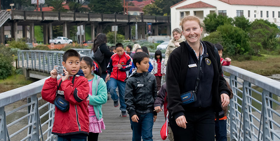 Students embark on an exploration of Crissy Field Marsh