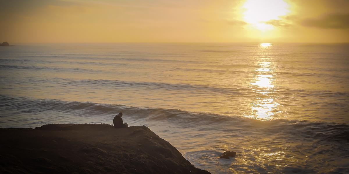 Sunset meditation at Mori Point