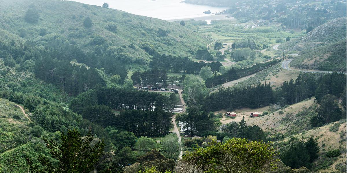Green Gulch Trail and farm