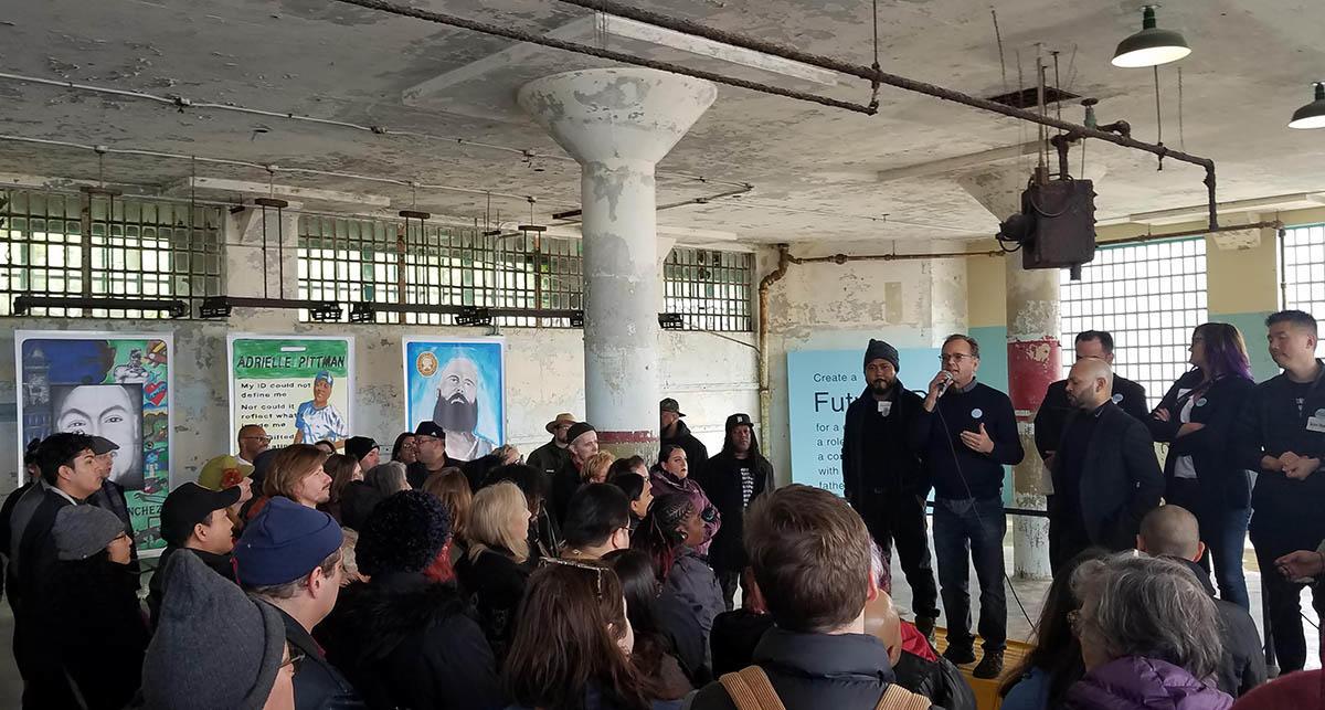 Future IDs project collaborators at the 'Day of Public Programs' at Alcatraz on Feb. 16, 2019.