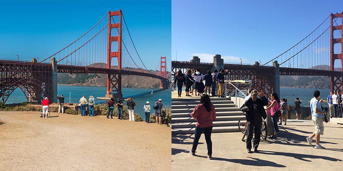 Fort Point Overlook before and after