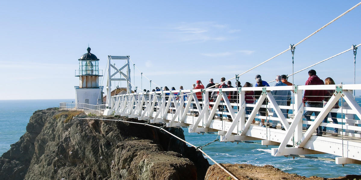 Sunny day at Point Bonita Lighthouse