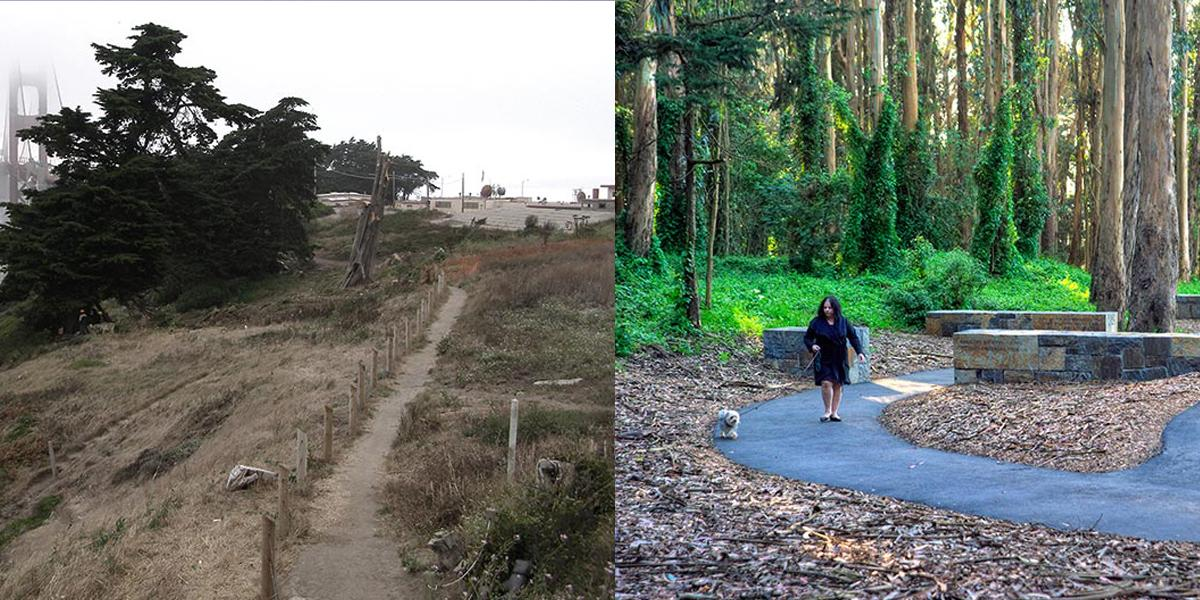Presidio before and after