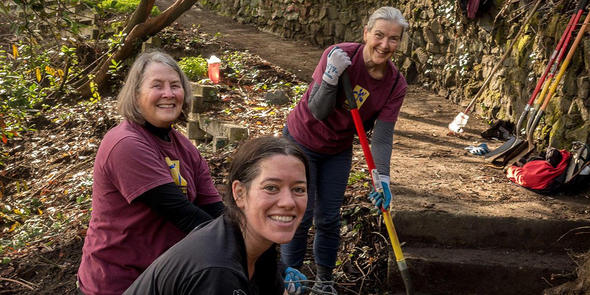 Volunteers Working in Black Point Historic Garden