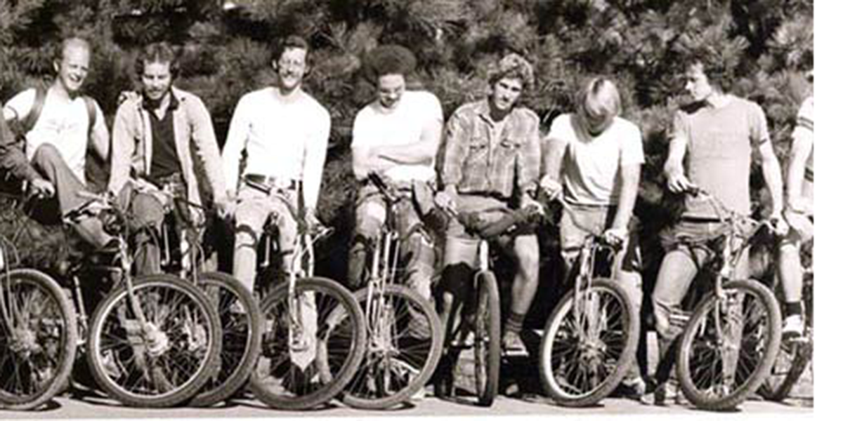 16 early off-road cyclists on Mt. Tam