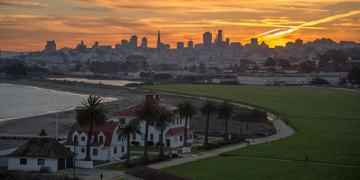 Crissy Field at Sunset