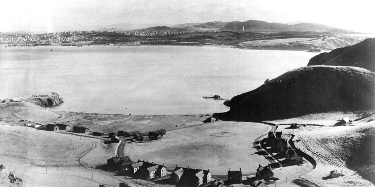 The original foundation of Fort Baker