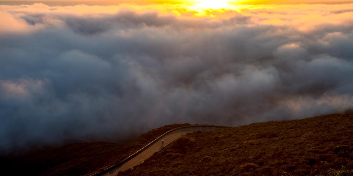 Clouds atop Mt. Tam