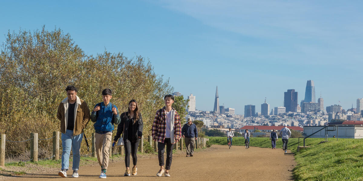 Crissy Field and San Francisco views