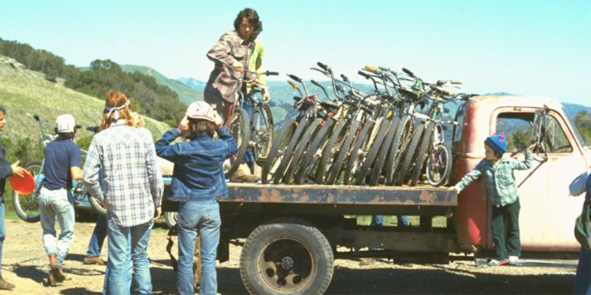 At the Azalea Hill drop off point for Repack. Bikes are unloaded from Fred Wolf's 1953 Chevrolet truck.