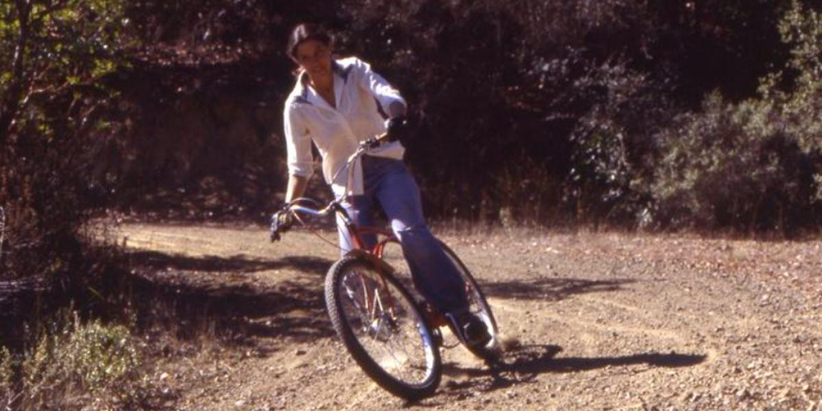 Donna Degan showing good form on Repack's Switchback #1, October 1977.