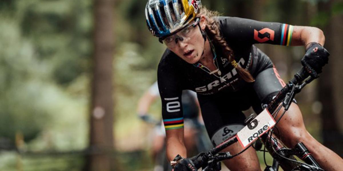 Olympian Kate Courtney who grew up biking on Mt. Tam