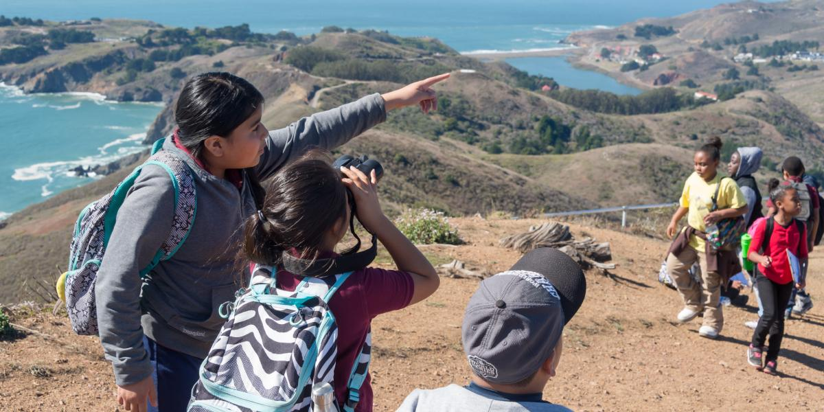 Students search for migrating raptors